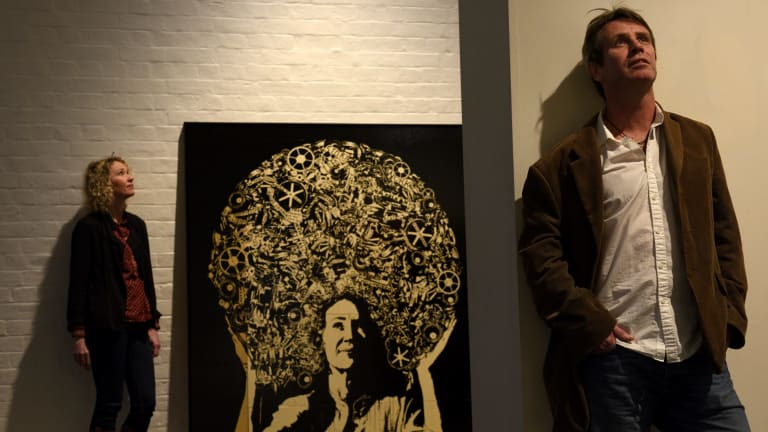 Artist James Powdtich, with his entry in the Archibald portrait prize of Cath Keenan (pictured), demonstrated an unvarnished assessment of his own shortcomings.