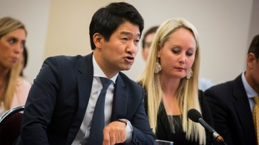Joo Man Park, eBay managing director and vice-president for Australia and New Zealand, at the federal inquiry.