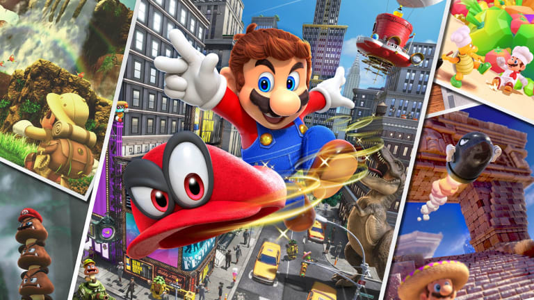 The globe-trotting Super Mario Odyssey was Nintendo's best-selling title during the period.