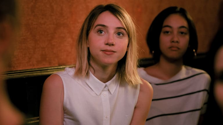 Zoe Kazan as the '60 per cent factual' version of Emily in