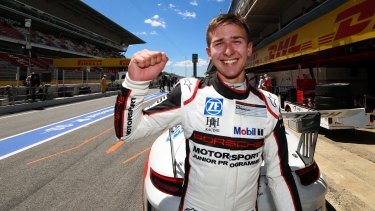 En route: Matt Campbell is only the second Australian to win a Porsche Supercup race.