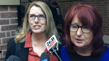 Glen Turner's widow Alison McKenzie, left, and his sister Fran Pearce.