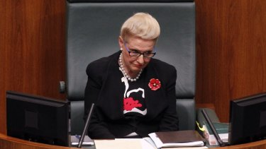 Former speaker Bronwyn Bishop.