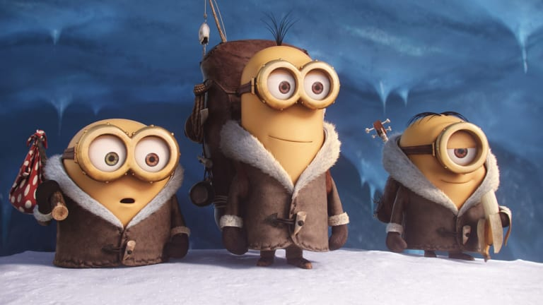 We love their antics: Bob, Kevin and Stuart, the three lead yellow blobs in <i>Minions</i>.