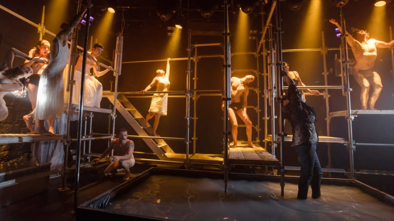 The actors in <I>Metamorphoses</I> are in almost constant motion.