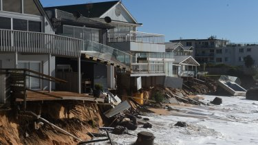 Storms wreaked havoc along the Collaroy coast earlier this year.