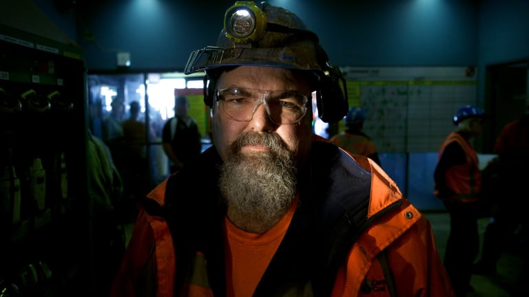 Springvale mine worker John Tilley, before the mine extension was approved in 2015.