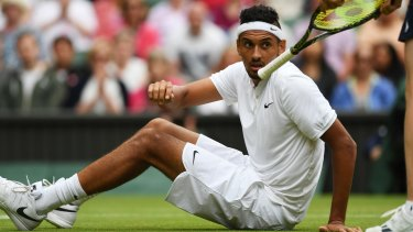 Australia's Nick Kyrgios losing his fourth-round match at Wimbledon against British player Andy Murray.