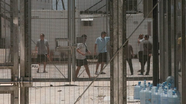 Asylum seekers at the Manus Island detention centre.