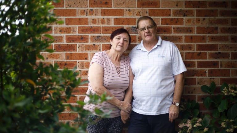 Trish Ollman with her husband Ian.