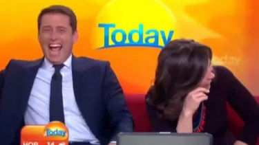 Karl Stefanovic on the Today set with Lisa Wilkinson.