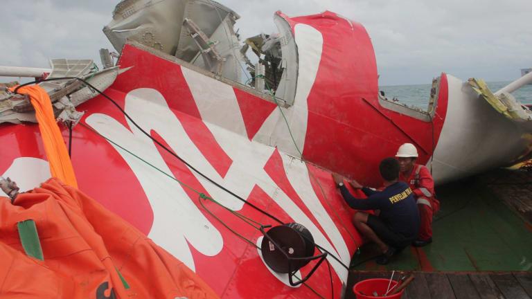 Wreckage from AirAsia flight 8501.