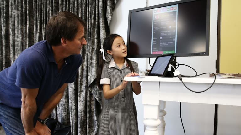 Google Australia and New Zealand's engineering director, Alan Noble, with Emma Yap.