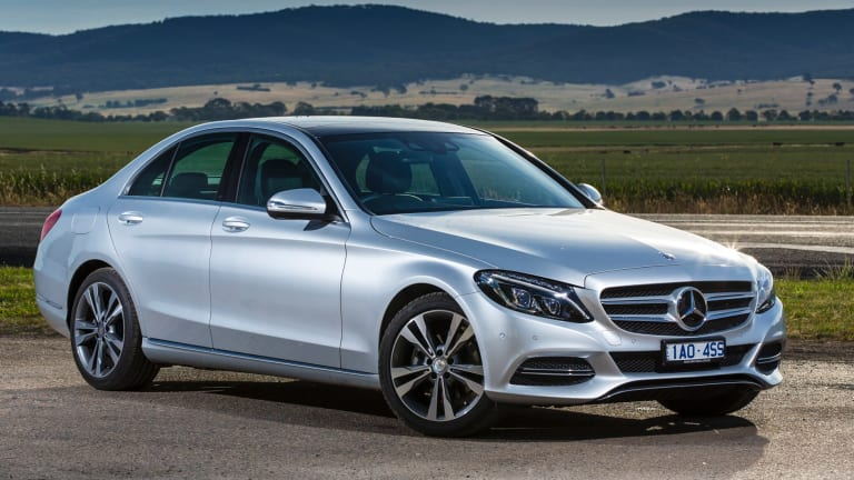 C-class models like Mercedes-Benz's C200 are now more commonly bought than much humbler vehicles like the Toyota Aurion or Ford Falcon.