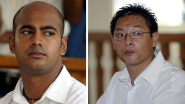 Executed: Australians Myuran Sukumaran and Andrew Chan.