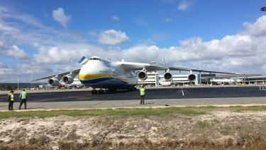 Tens of thousands of people watched the world's biggest plane land in Perth.