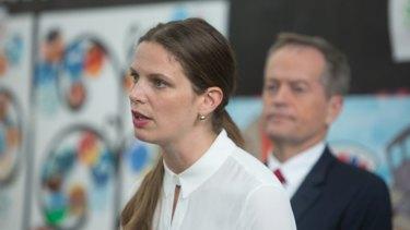 Shadow education minister Kate Ellis with Labor leader Bill Shorten