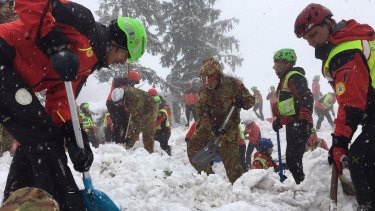 Rescuers have been hearing noises from beneath the avalanche-hit hotel.