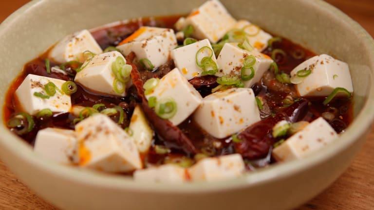Wagu beef and tofu.