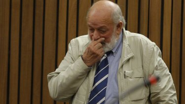 Barry Steenkamp gives emotional testimony at Pistorius' sentencing hearing in June.