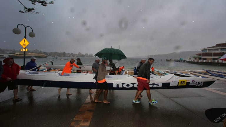 Almost as wet in the water or above it: standard fare this past month in Sydney.