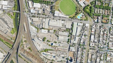 An aerial view of the area proposed for the new Arden Station redevelopment.