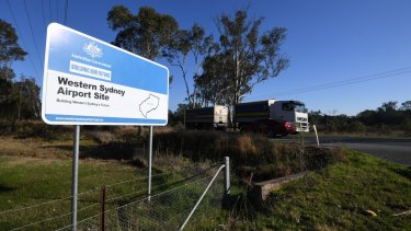 The new airport at Badgerys Creek is due to open by 2026.