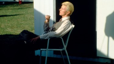 David Bowie relaxing mid-tour.