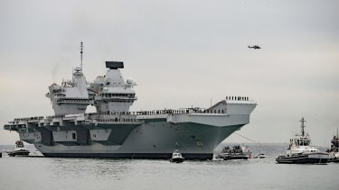 Aircraft carrier HMS Queen Elizabeth.