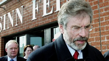 Gerry Adams, the Sinn Fein leader for 34 years, is being replaced by Mary Lou McDonald.