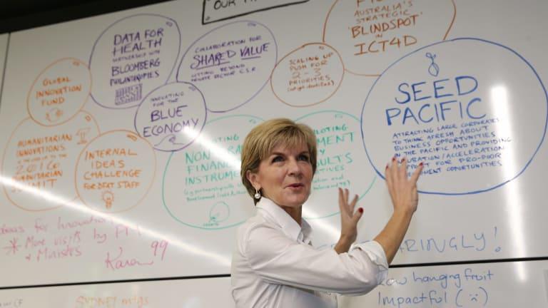 Julie Bishop at InnovationXchange headquarters.