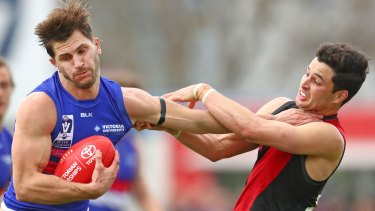 Ben McNiece in action for Essendon last year in the VFL.