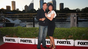 David Oldfield and Lisa Oldfield attend The Real Housewives of Sydney Launch Event at Otto restaurant in February.