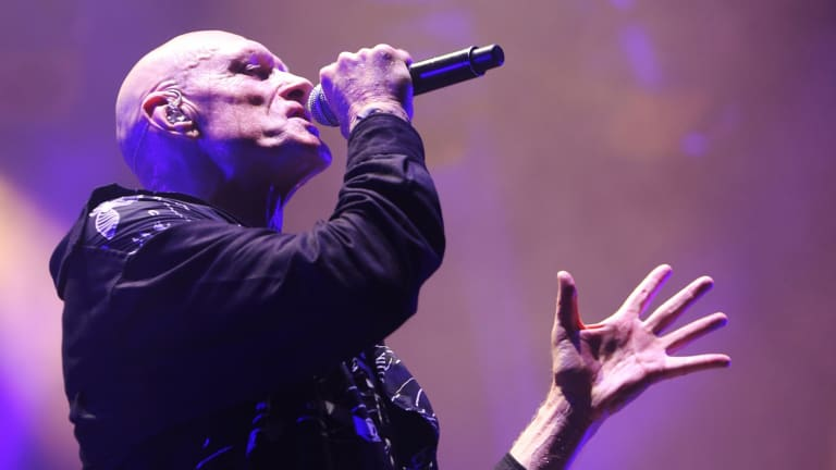 Veteran Midnight Oil frontman Peter Garrett. The Aussie greats returned to the stage to great acclaim.