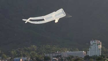 Jin Chul Kyu's Kite-flying in Cheorwon D.M.Z., 2015.