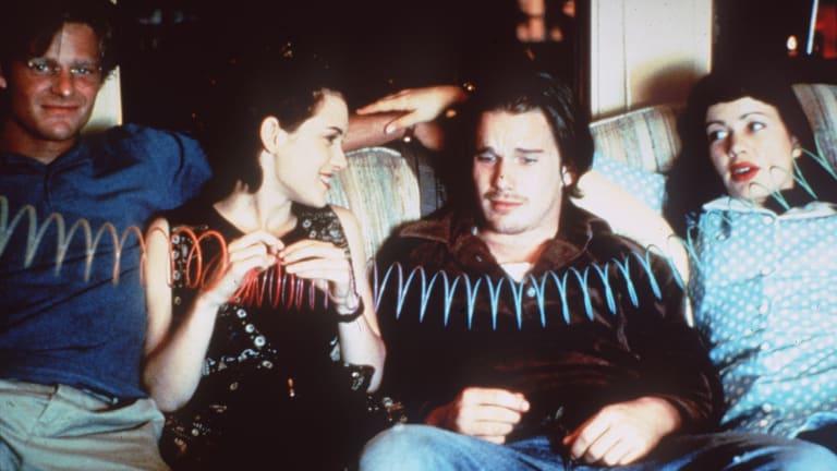 In Reality Bites wth Steve Zahn, Winona Ryder and Janeane Garofolo.