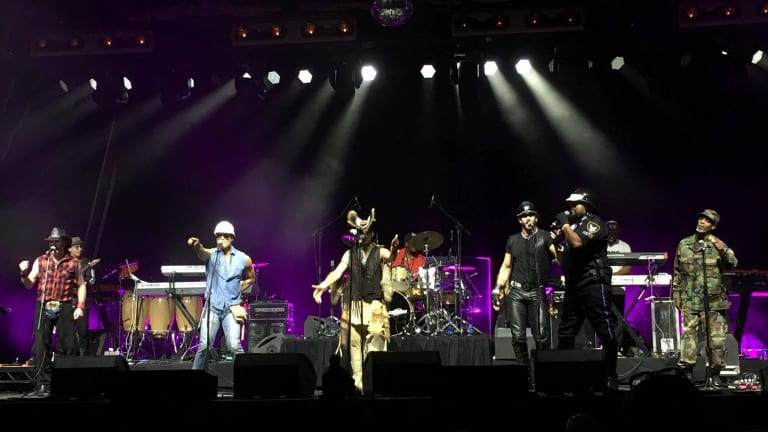 Village People hit more than a few off notes at Margaret Court Arena.