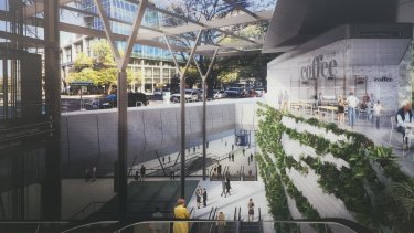 An artist's impression of the Melbourne Metro rail project's Parkville station.