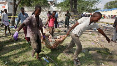 The suicide car bomb attack targeted a police station adjacent to the seaport in the capital Mogadishu.