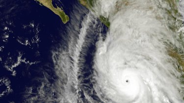NASA satellite imagery show super Hurricane Patricia as it neared the Mexican coast.