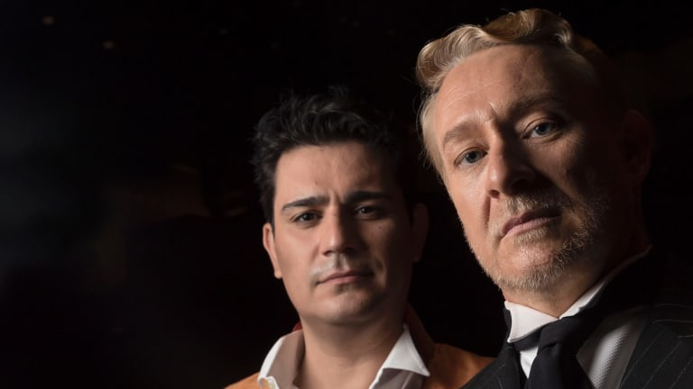'There are a lot of consonants': Saimir Pirgu (left) and Michael Honeyman from Opera Australia's <i>King Roger</i>.