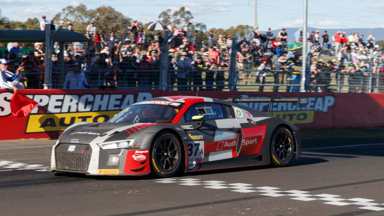 Early finish: Audi Sport Team WRT survived the carnage to claim victory in the 2018 Bathurst 12 Hour.