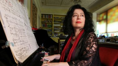 Composer Elena Kats-Chernin with trusty black marker in hand.