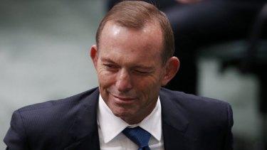 Former prime minister Tony Abbott is just doing his bit.