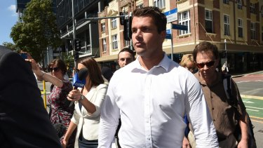 Gable Tostee arrives at the Supreme Court in Brisbane on Monday.