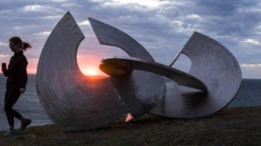 Steely sunrise, Bondi Beach.