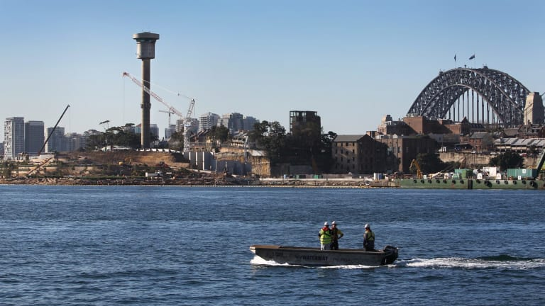 Troubled waters: The former Sydney Ports Harbour Control Tower at Millers Point.