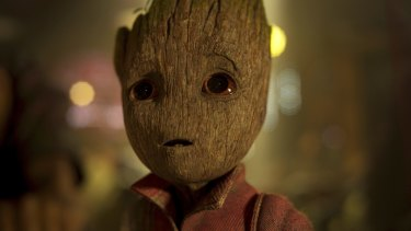 A metaphor for the <i>Guardians Of The Galaxy Vol. 2</i>'s shortcomings?  Groot, voiced by Vin Diesel.