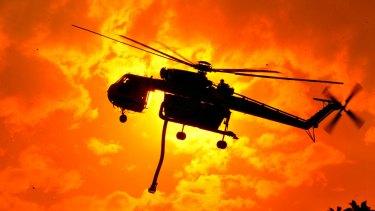 The Erickson Aircrane battles a blaze in Victoria: another busy season awaits.