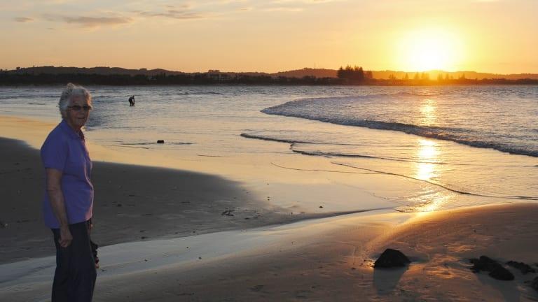 Frances Brown enjoys the serenity in Byron Bay.